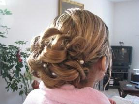 chignon de mariage, coiffure à domicile yvrac