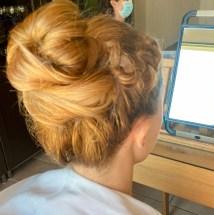 chignon haut mylène Florence coiffure