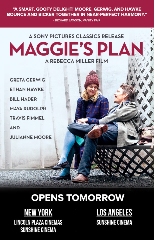 MAGGIE'S PLAN ANNOUNCEMENT