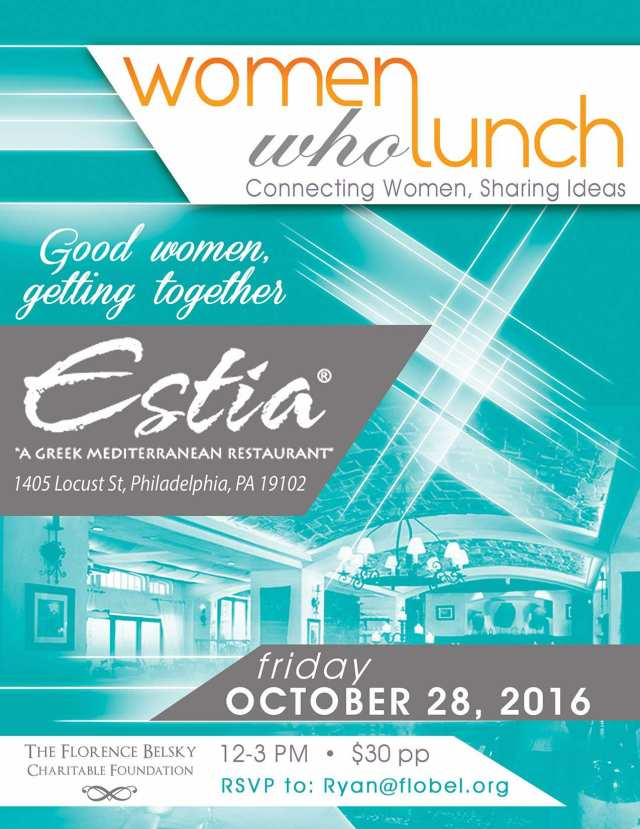WomenwhoLunch Estia philly OCT