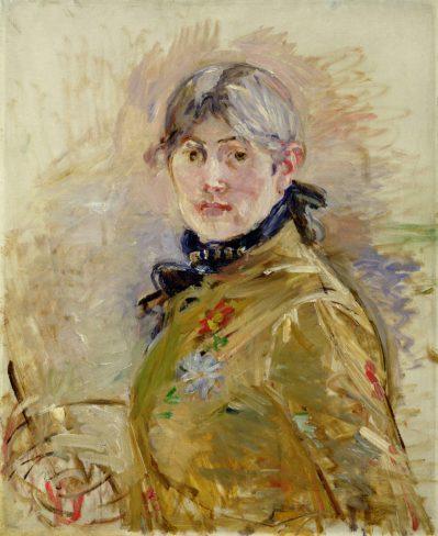 MMT 156737 Self Portrait, 1885 (oil on canvas) Morisot, Berthe (1841-95) MUSEE MARMOTTAN MONET, PARIS, ,