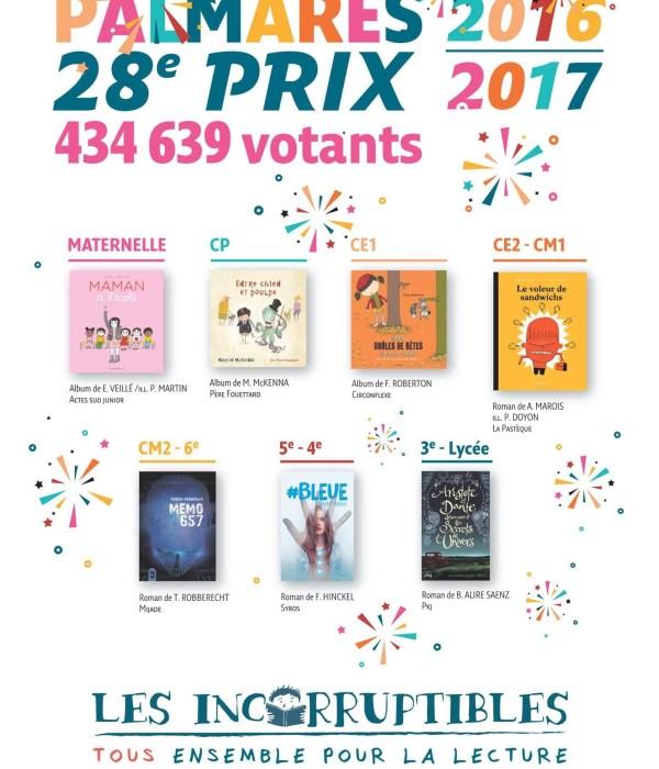 #Bleue remporte le prix des Incorruptibles dans la catégorie 5e/4e