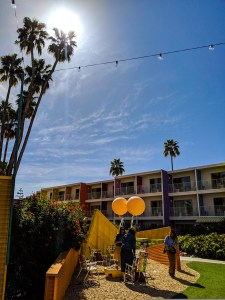 Picture of the outdoor area at the Saguaro Hotel in Palm Springs