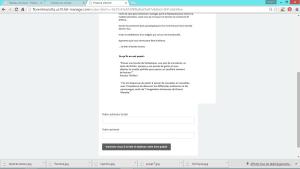 Partie du formulaire après avoir cliqué sur le lien du livre