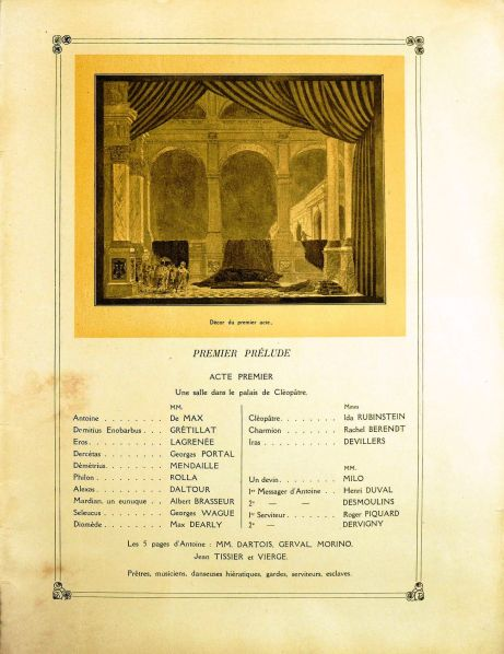 Antony & Cleopatra Program Book Act I 1920