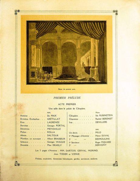 Antony & Cleopatra Program Book Act I 1920