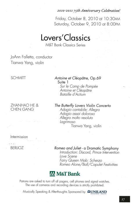 BPO Concert Program 2010