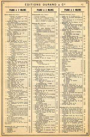 Durand catalogue 1965 Florent Schmitt