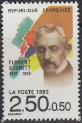 Florent Schmitt postage stamp