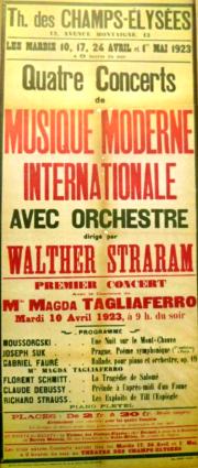 Florent Schmitt Walther Straram 1923