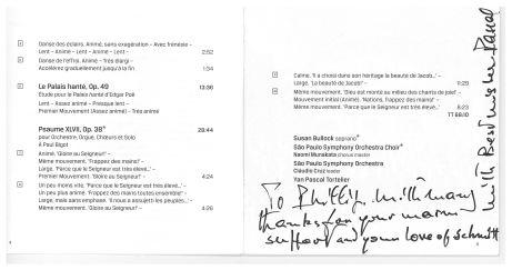 Yan-Pascal Tortelier Florent Schmitt program booklet (Chandos)