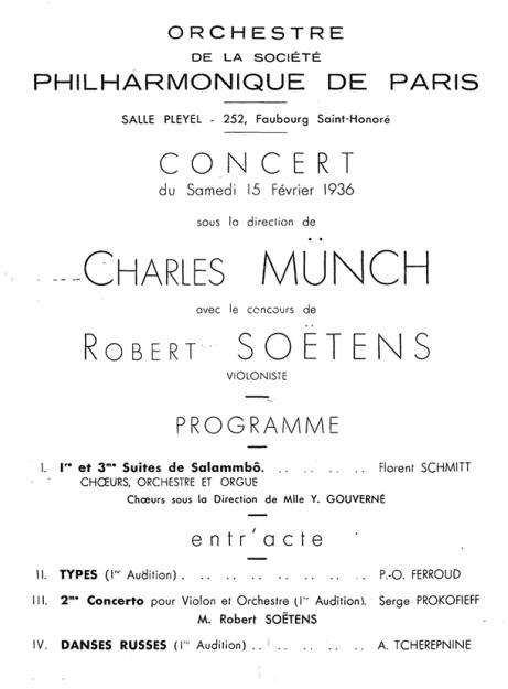 Florent Schmitt Salammbo Munch 1936