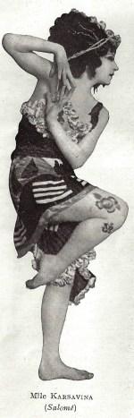 Tamara Karsavina as Salome (Ballets Russes 1913)