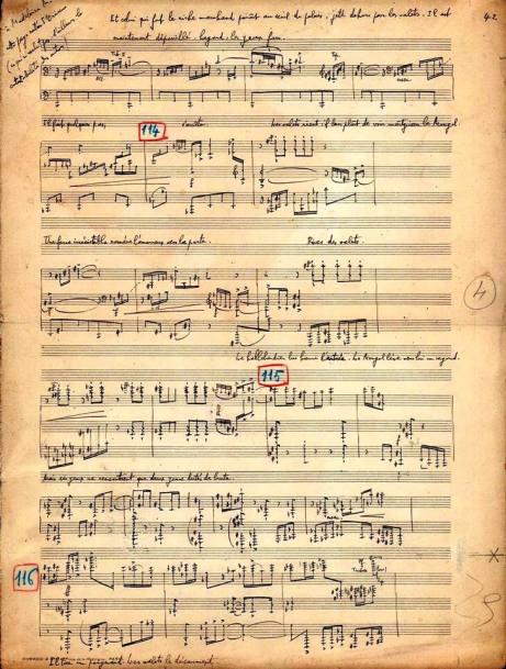 Florent Schmitt Oriane manuscript page
