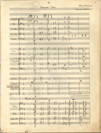 Florent Schmitt Kermesse-Valse manuscript page