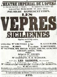 Les vepres siciliennes poster
