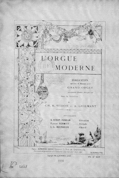 L'Orgue moderne 1900 Vol. 16