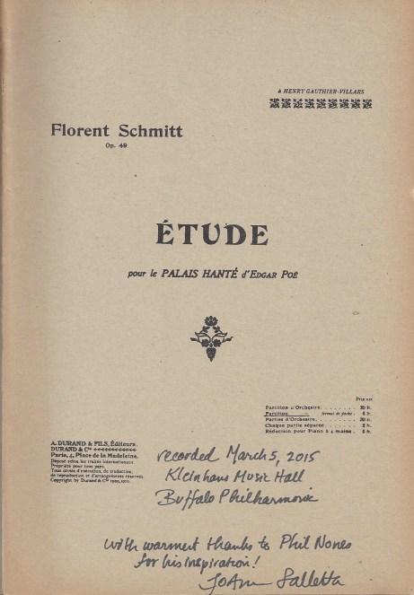 Florent Schmitt The Haunted Palace Score