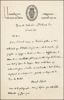 Florent Schmitt letter to Michel de Bry