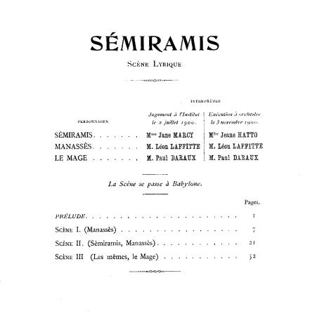 Florent Schmitt Semiramis 1900