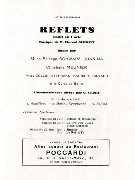 Florent Schmitt Reflets 1934 Opera-Comique