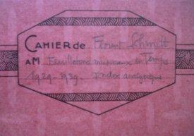 Cahier de Florent Schmitt