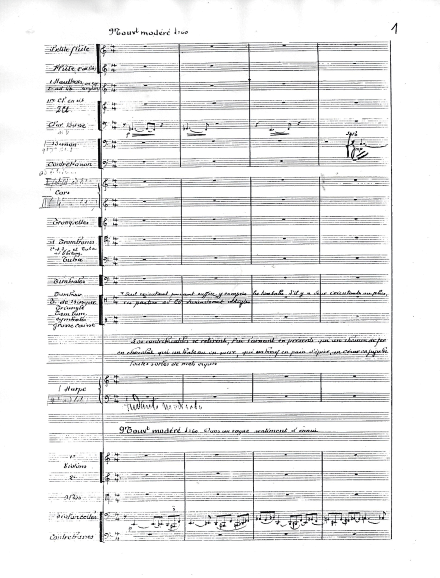Florent Schmitt Fonctionnaire MCMXII manuscript