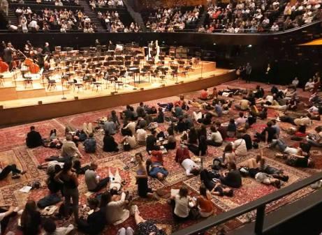 Intermission at the Orchestre de Paris' Reves d'Orient concert (June 2018)