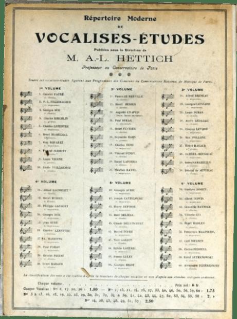 Hettich Vocalises-Etudes Vol. 1-6