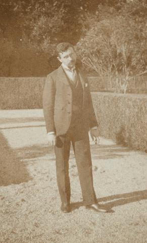 French composer Florent Schmitt at the Villa Medici in Rome 1902