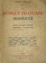 Musique francaise moderne Andre Coeuroy