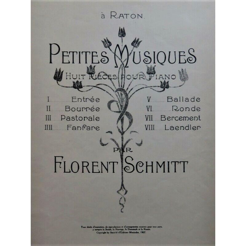 Florent Schmitt Petites Musiques piano score