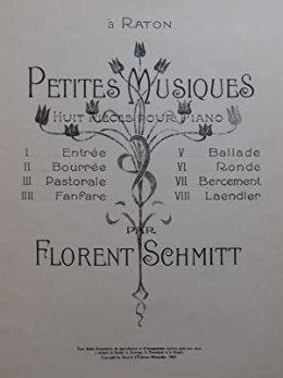 Florent Schmitt Petites musiques score