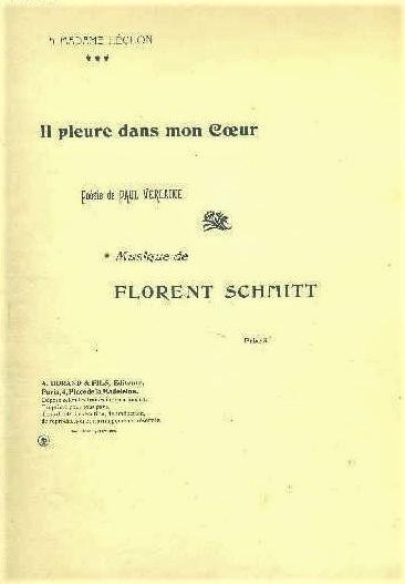 Florent Schmitt Paul Verlaine