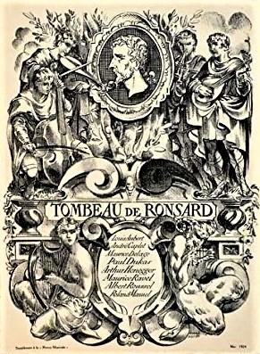 Le Tombeau de Ronsard Revue Musicale May 1924