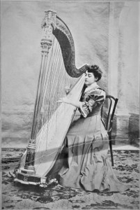 Lucile Adele Wurmser-Delcourt French harpist