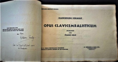 Sorabji Opus Clavicembalisticum score