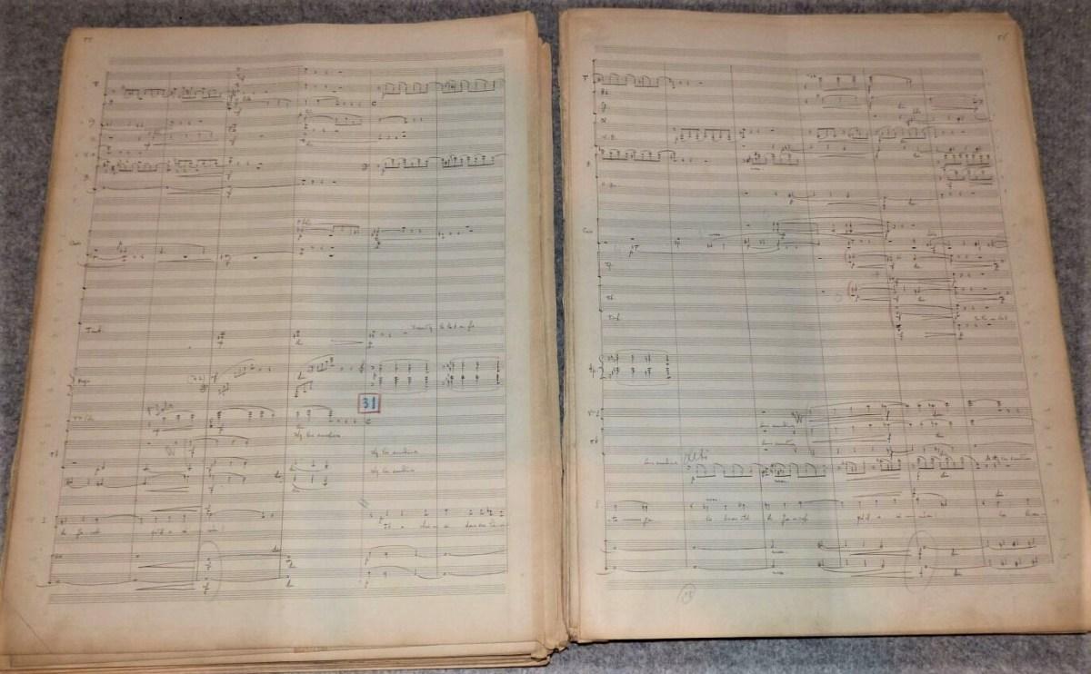 Florent Schmitt Psaume 47 manuscript pages