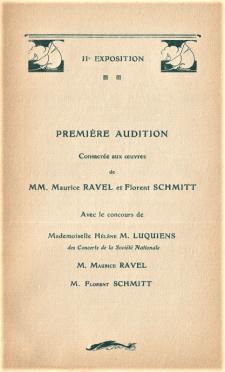 Florent Schmitt Maurice Ravel joint performance 1907 Le Havre