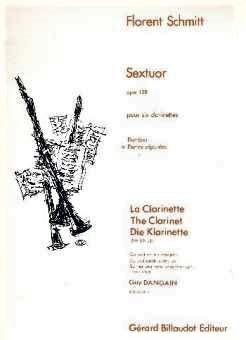 Flrent Schmitt Sextuor pour clarinettes score cover