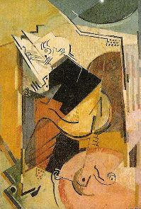 Albert Gleizes Portrait of Florent Schmitt sketchline 1914