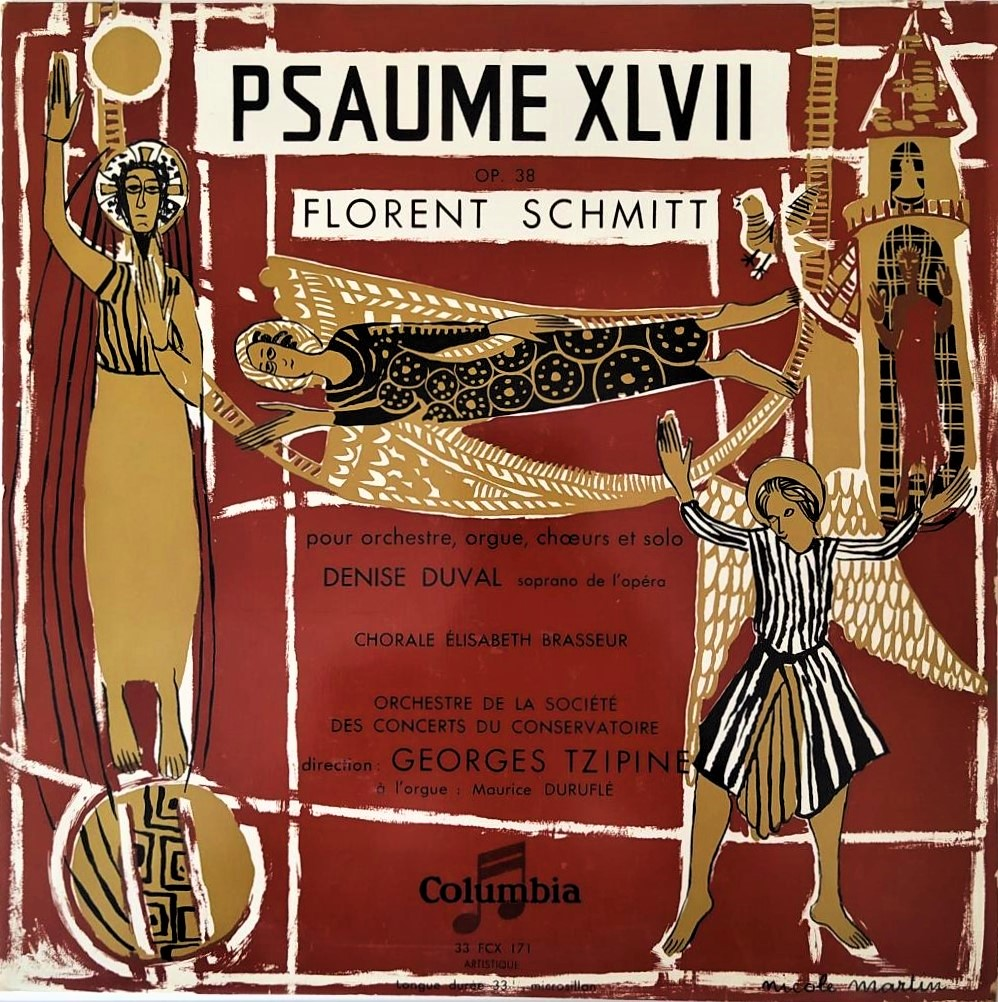 Florent Schmitt Psalm 47 French release Columbia EMI 1953
