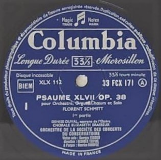 Florent Schmitt Psaume XLVII Columbia EMI