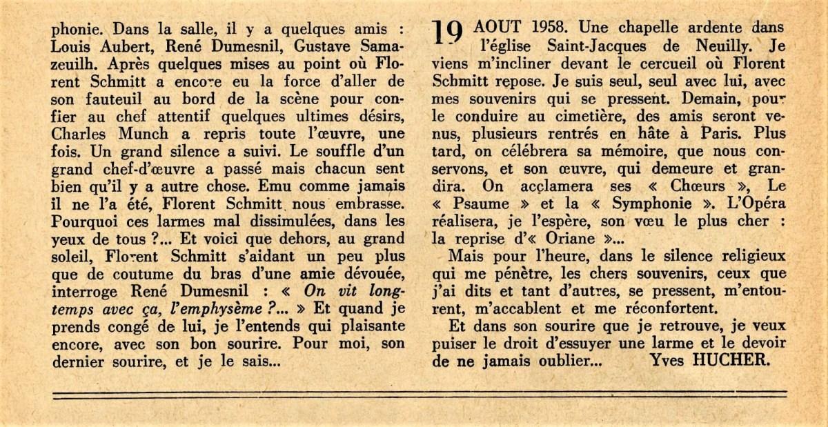 Florent Schmitt Tribute Yves Hucher Guide du Concert et du Disque Page 3