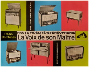 Pathe-Marconi record player advertisement 1950s.