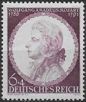 Mozart 1941 postage stamp Germany