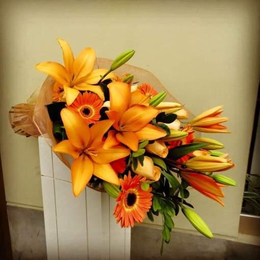 Bouquet de Lilis, Gerberas y Rosas - BOU10