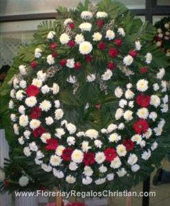 Corona de flores para funeral tamaño gigante - FU23