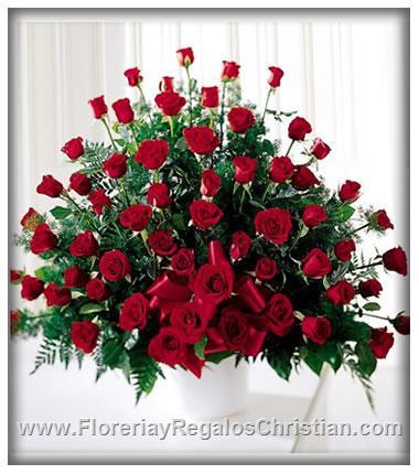 Arreglo de Rosas para Funeral - FU8