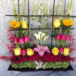 Jardinera Surtida con flores de colores - NU100